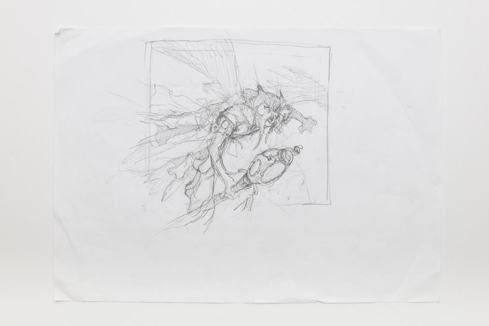 Aven Mimeomancer sketch 2/2 A3 size set $300