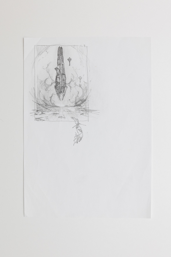 Behold the Power of Destruction sketch 1/2 A4 size set $250