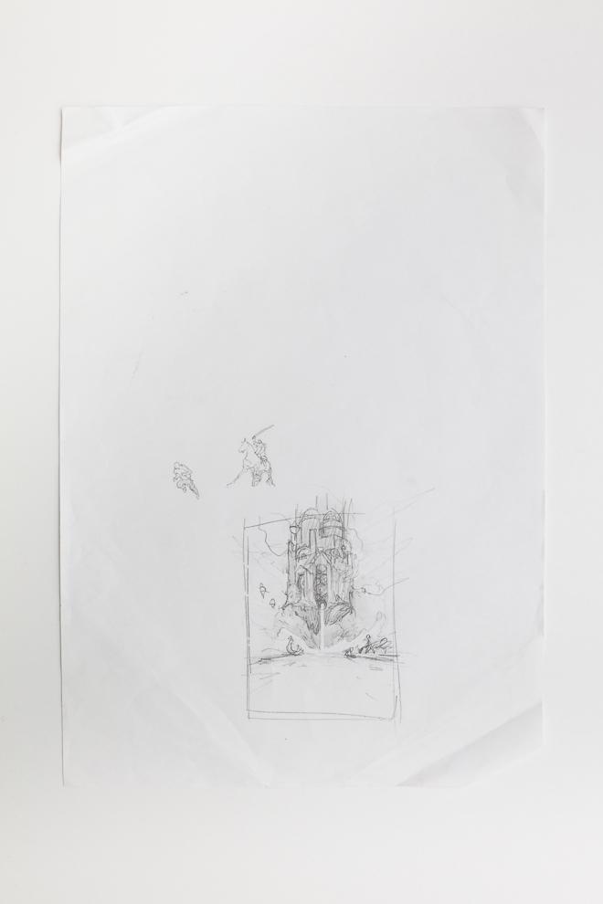 Behold the Power of Destruction sketch 2/2 A3 size set $250