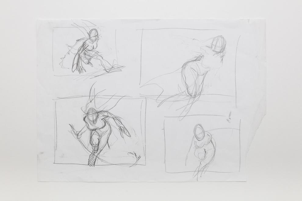 Bloodthorn Taunter sketch 1/2 A3 size set $400