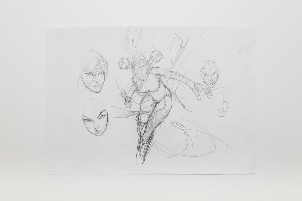 Bloodthorn Taunter sketch 2/2 A3 size set $400