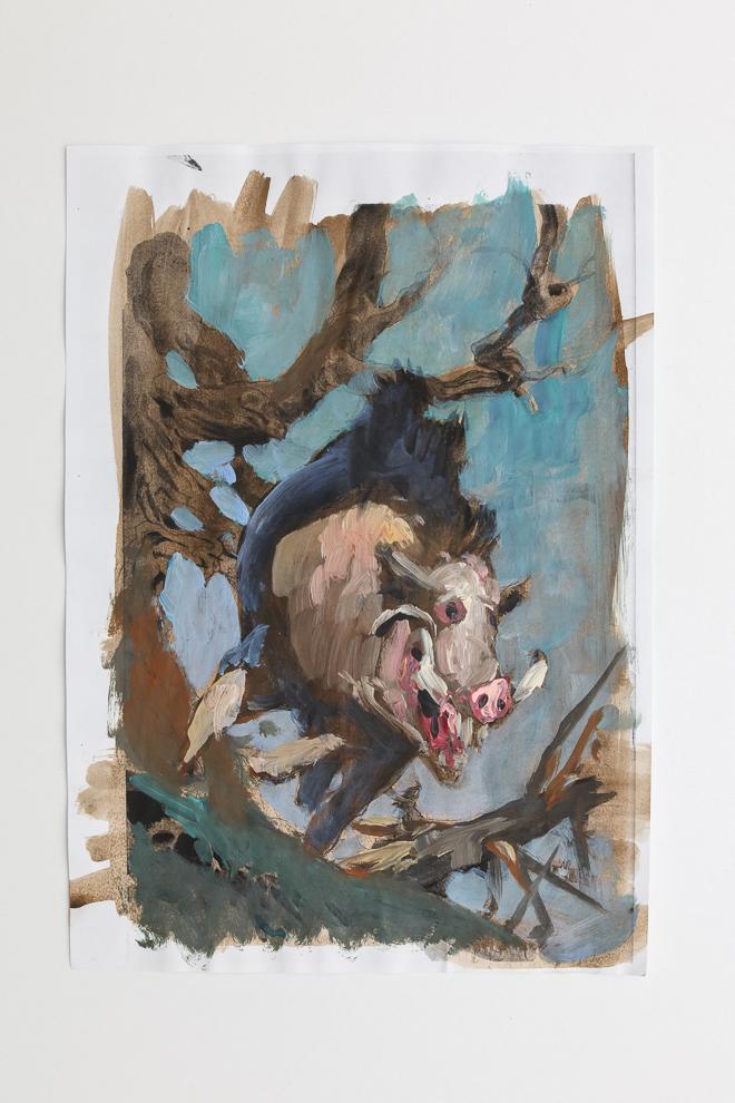Boar token color study 2 A4 size $300