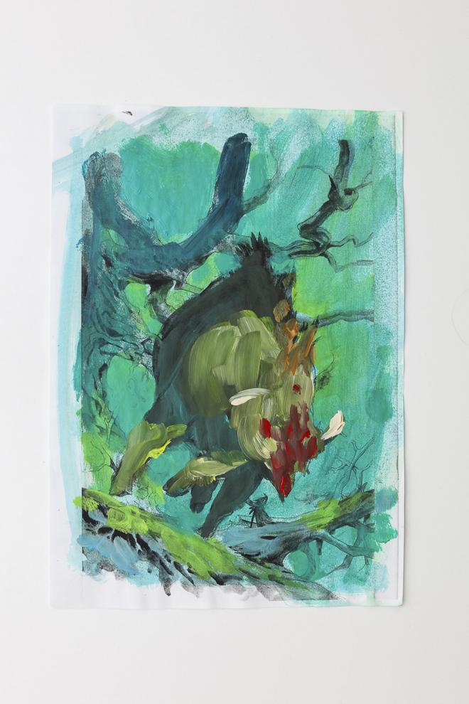 Boar token color study 3 A4 size $250