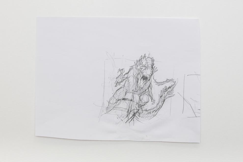 Colossal Dreadmaw sketch 2/2 set $300