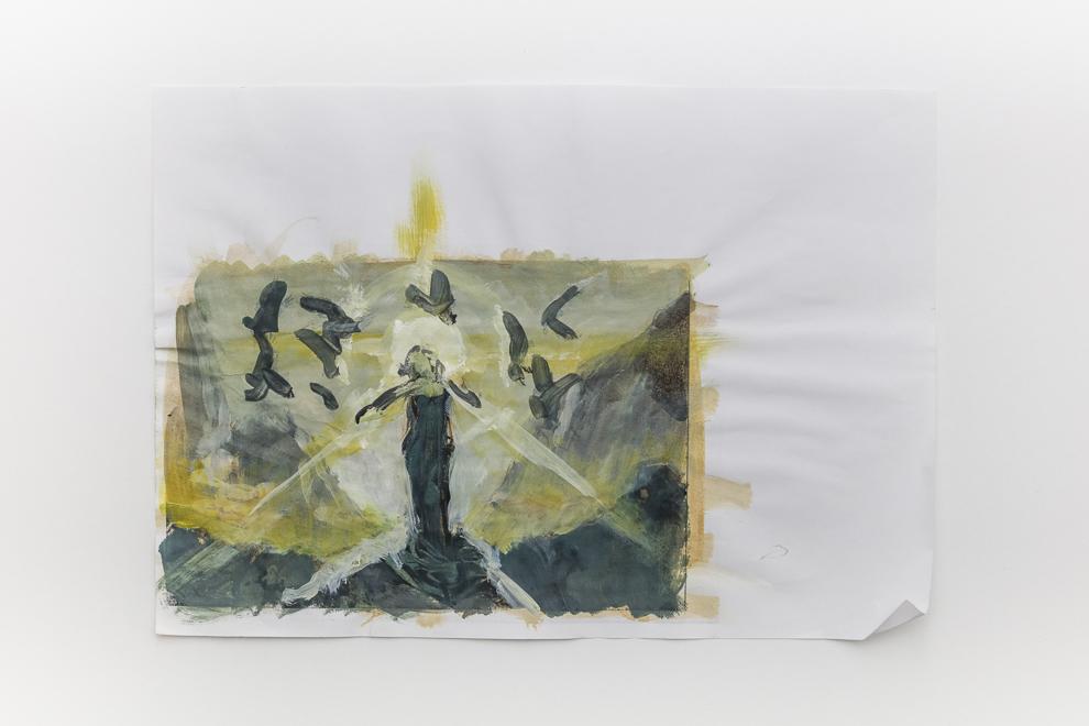 Cylian Sunsinger color study 1 A4 size $200