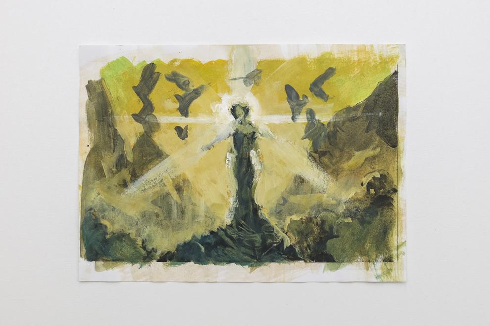 Cylian Sunsinger color study 2 A4 size $300