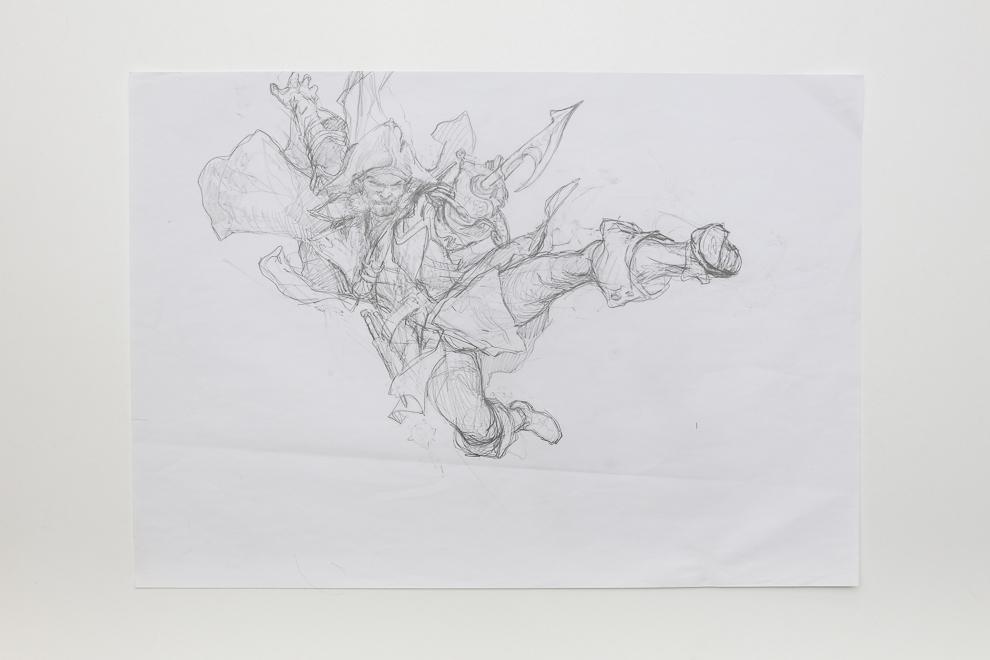 Deadeye Brawler sketch A2 size $400
