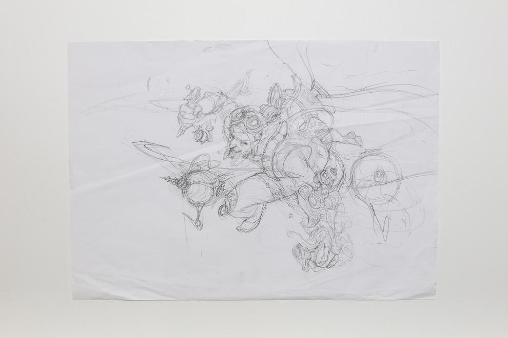 Experimental Aviator sketch A2 size $400