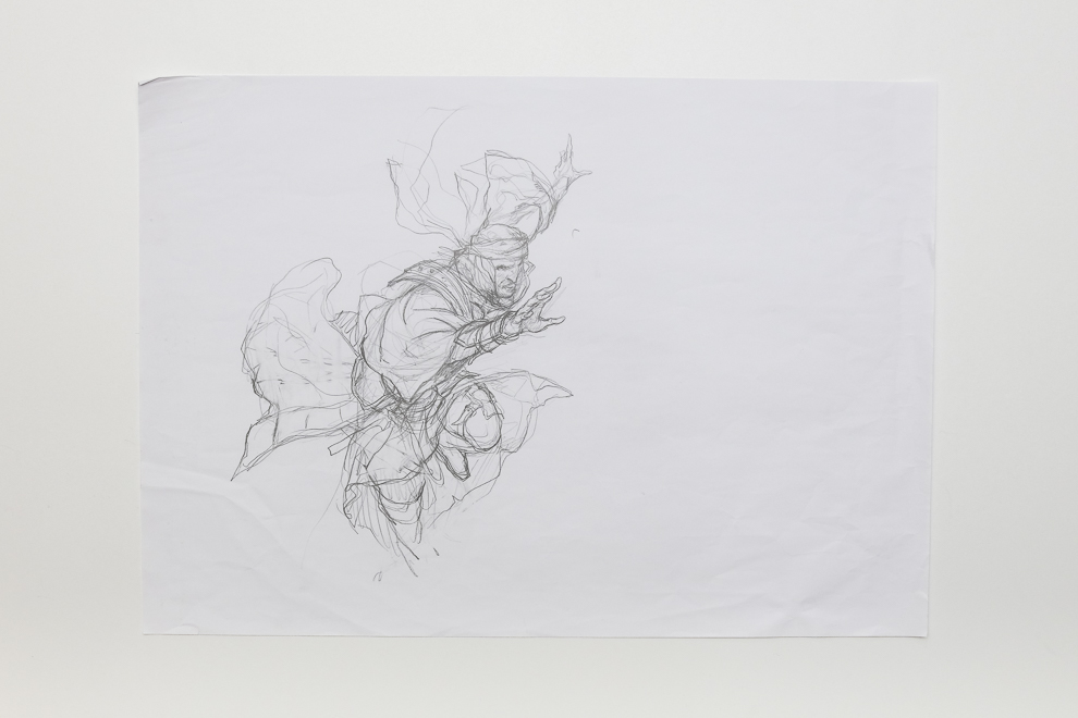 Ghitu Lavarunner sketch 1/2 A2 sized set $300