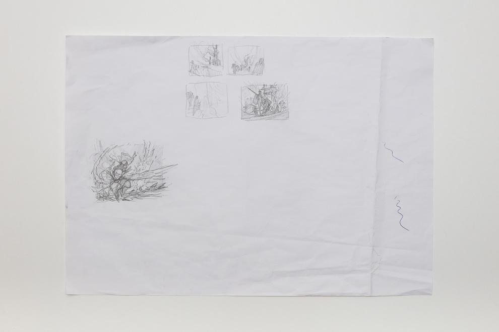 Ghitu Lavarunner sketch 2/2 A2 sized set $300