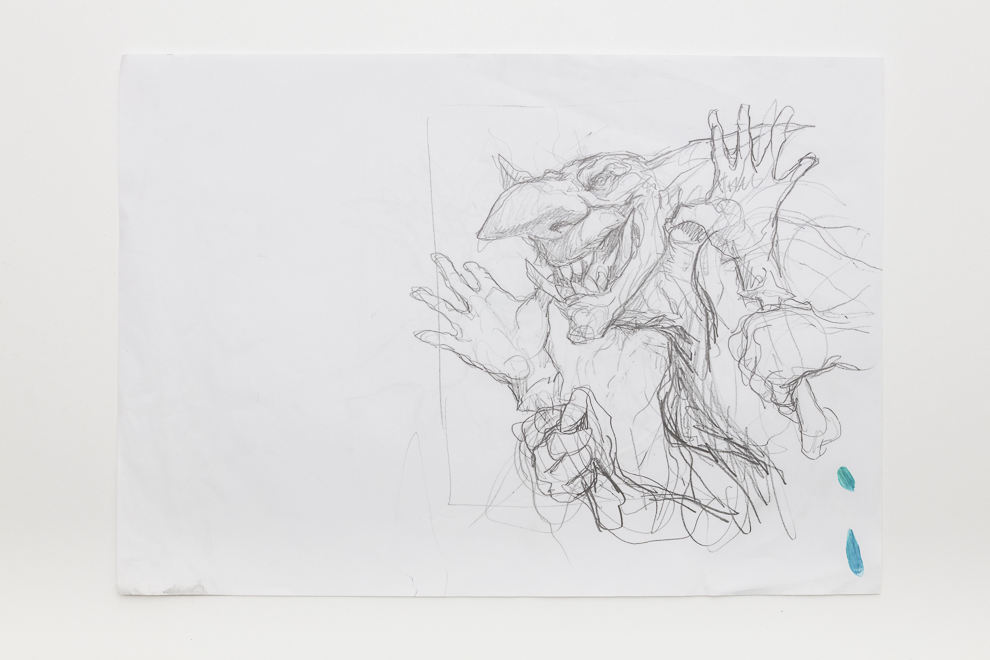 Goblin Diplomats sketch 1 A3 size $400