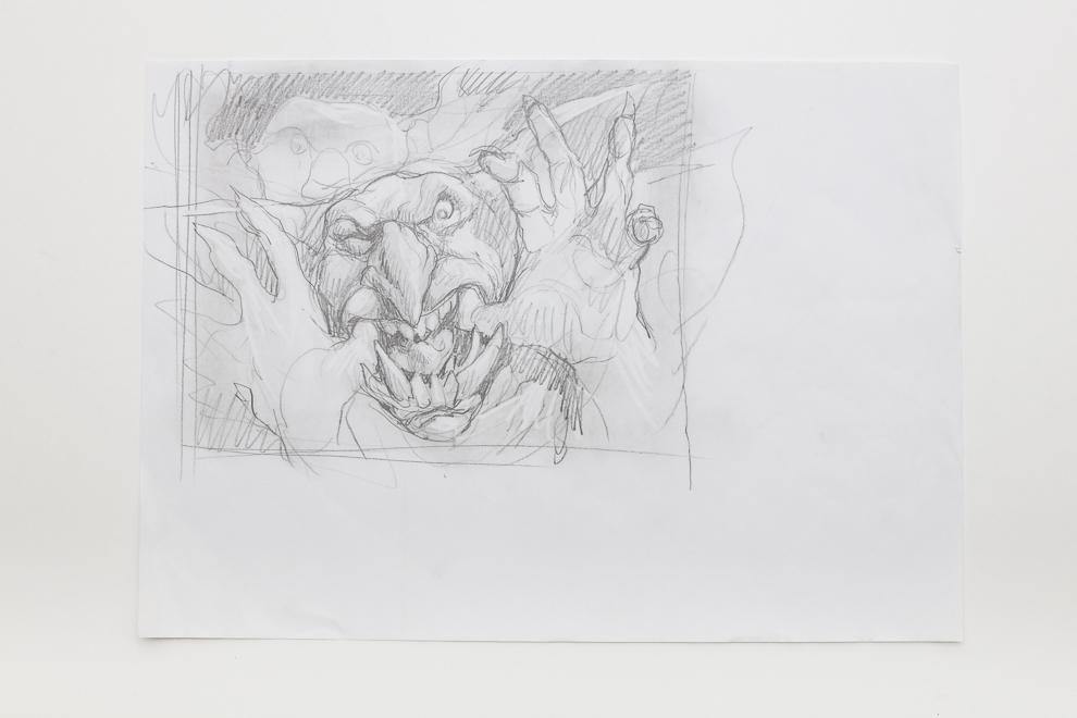 Goblin Diplomats sketch 2 A3 size $400