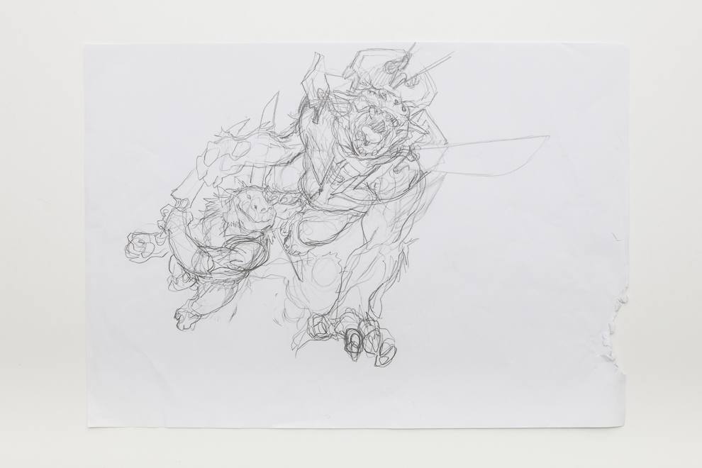 Goblin Heelcutter sketch A2 size $400