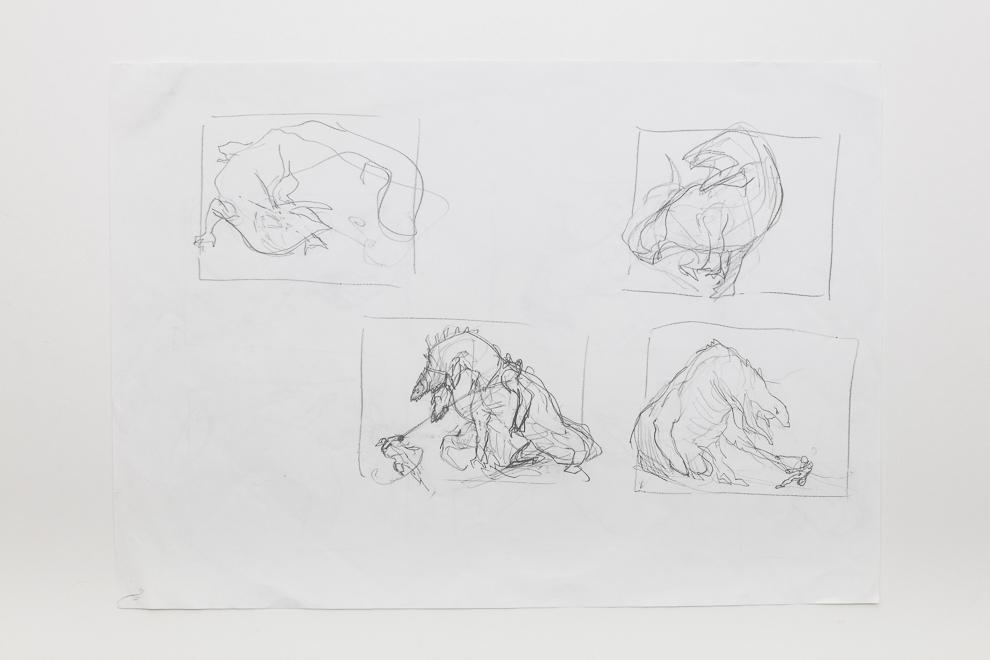 Grotag Thrasher sketch 1 A3 size $200