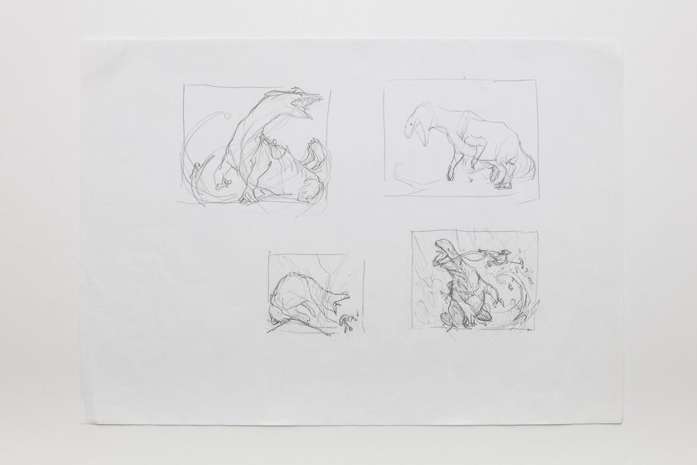Grotag Thrasher sketch 2 A3 size $250