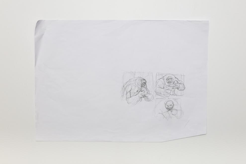 Humongulus sketch 1/2 A2 size set $300