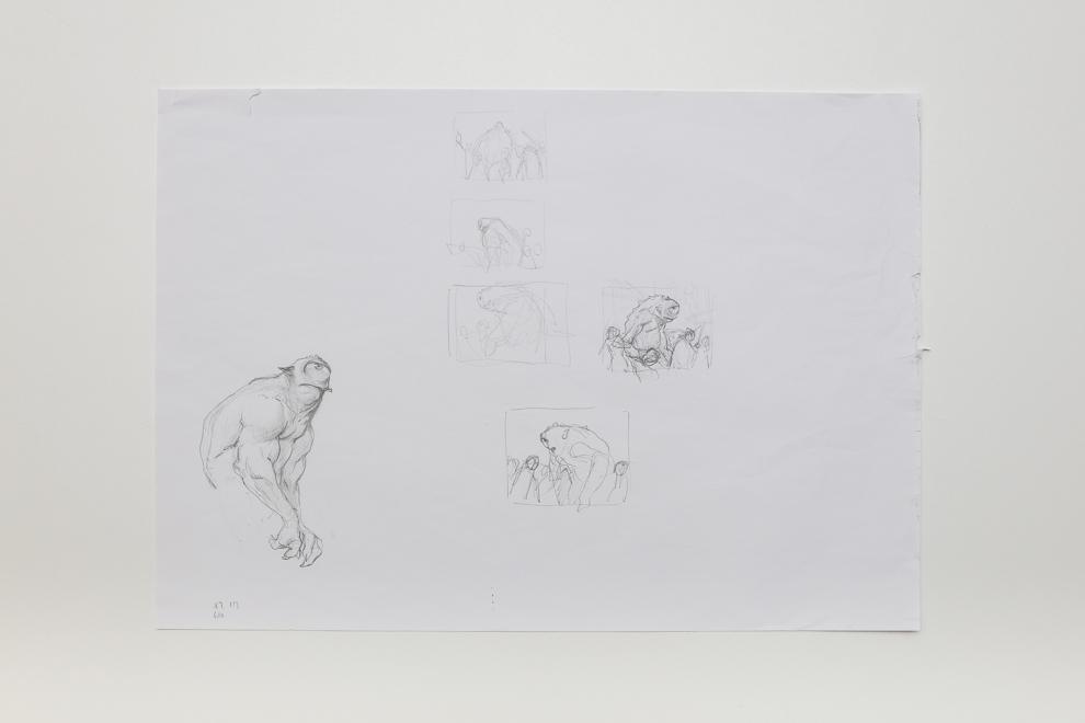 Humongulus sketch 2/2 A2 size set $300