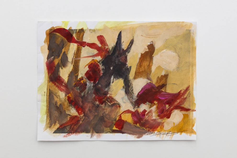 Khenra Scrapper color study A5 size $200