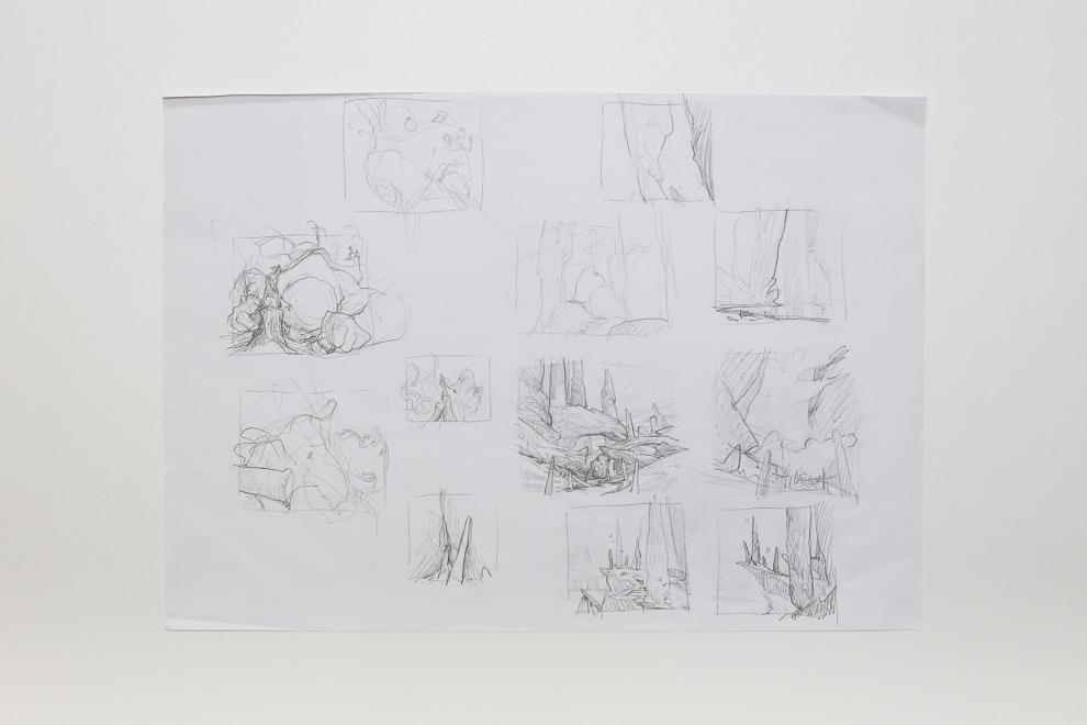 Mountain Throne of Eldraine sketch A2 size $300