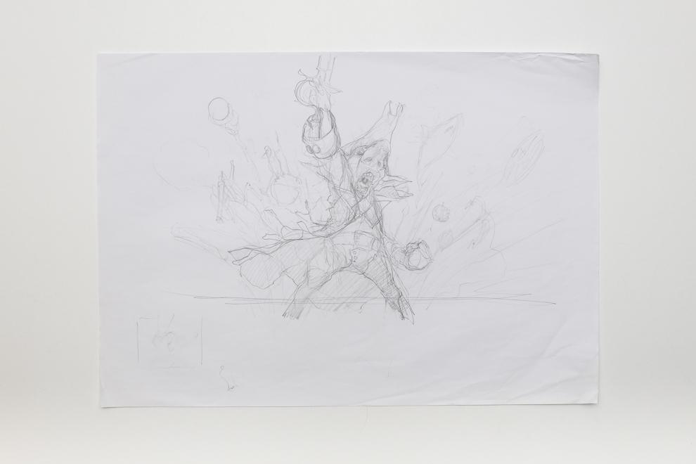 Munitions Expert sketch 1 A2 size $300