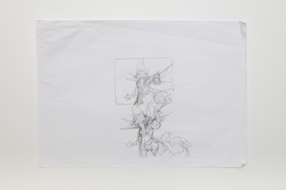 Munitions Expert sketch 2 A2 size $400