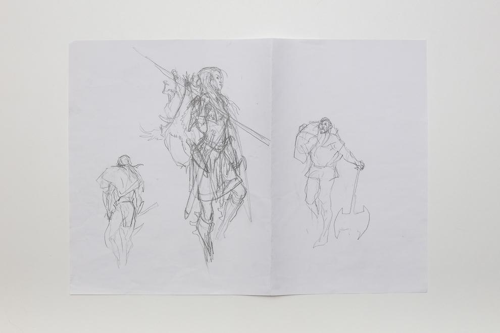 Pillage sketch 1 A2 size $300