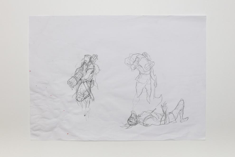 Pillage sketch 2 A2 size $250