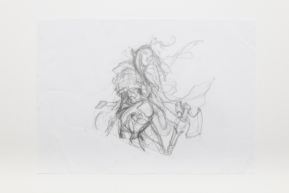 Selvalas Enforcer sketch 1 A3 size $250