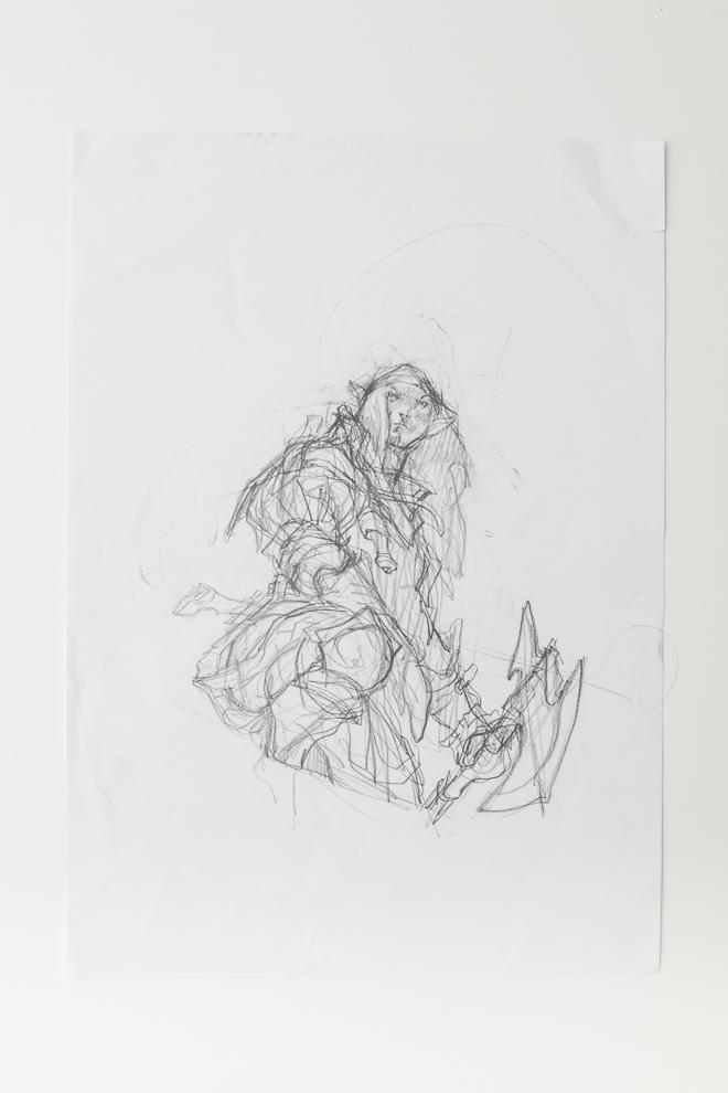 Selvalas Enforcer sketch 2 A3 size $250