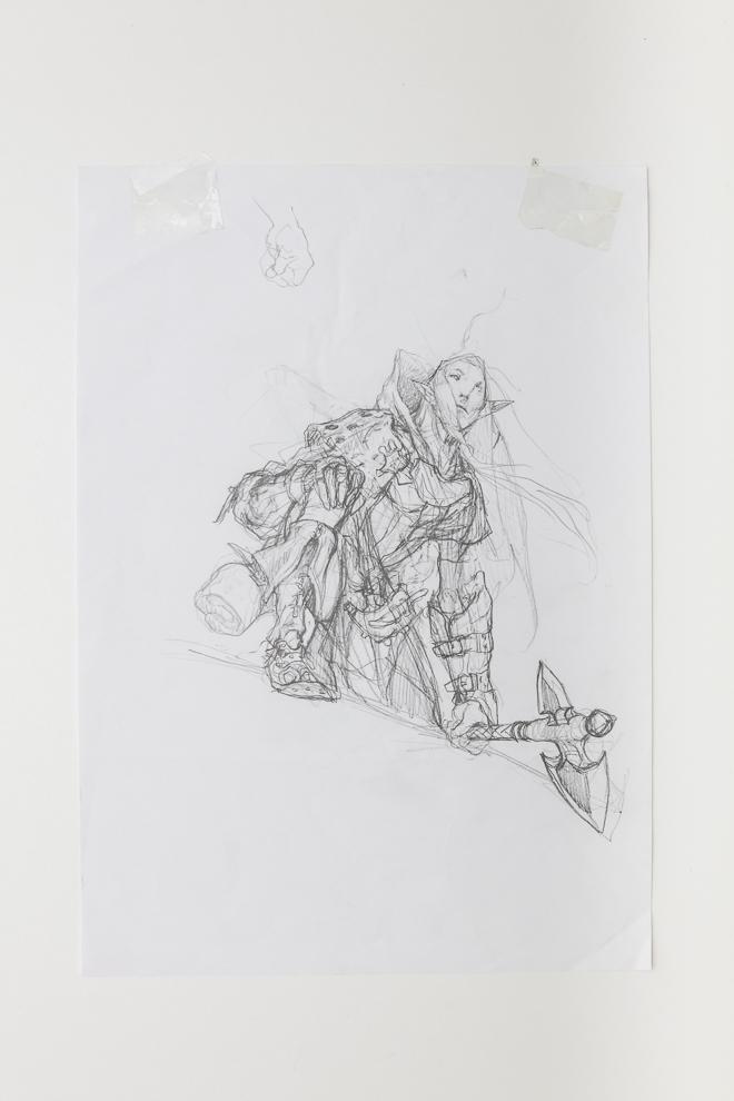 Selvalas Enforcer sketch 3 A3 size $250