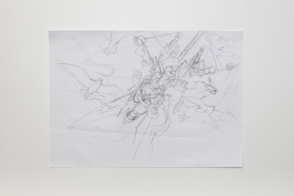 Storm Fleet Aerialist sketch A2 size $400